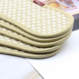 优唯美 5双装珍誉系列透气吸汗舒适竹炭双面棉麻鞋垫43码 ZY-6197
