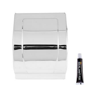 菲尔特(Fürth)纸巾盒 卫生间卷纸盒 厕所手纸盒 封闭不锈钢纸巾架K8