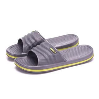 COQUi 酷趣 情侣款居家简约舒适休闲轻质透气沙滩洗澡凉拖鞋男款 碳灰色42-43码 CQ-7922