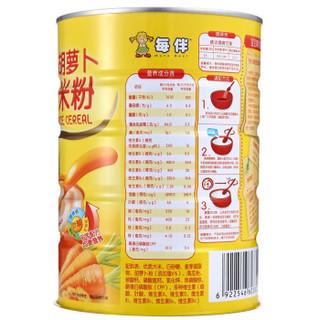 每伴胡萝卜营养米粉600g