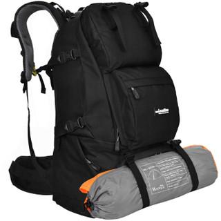 力开力朗(LOCAL LION)062 登山包背包户外双肩包旅行包 黑色 45L