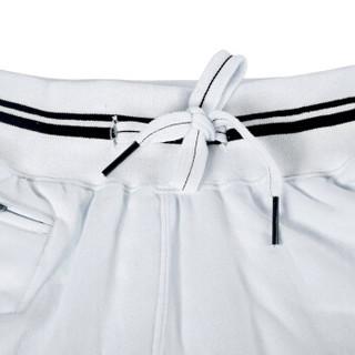 企鹅卫队男士短裤休闲沙滩裤精棉纯色排汗运动休闲沙滩裤男漂白XXL180/100 33912035