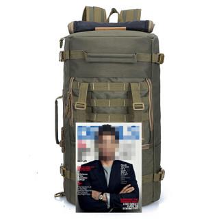 力开力朗(LOCAL LION)514 登山包双肩单肩背包手提包旅行包17英寸电脑包 军绿色 50L