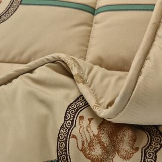 雅鹿·自由自在 被子家纺 加厚保暖透气驼毛秋冬天棉被 单双人轻柔被芯 200*230cm 重量6斤 驼毛被