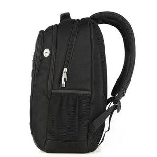 艾奔(AspenSport)双肩包男女背包学生书包 笔记本电脑包15.6英寸AS-B06 黑色 标准版