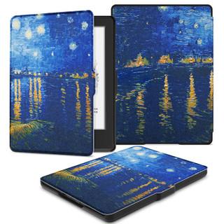 柏图 适配Kindle 558版保护套/壳 彩绘系列 全新Kindle电子书休眠皮套 梵高星夜
