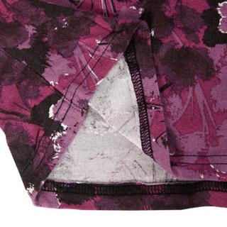 企鹅卫队男士短裤休闲沙滩裤竹纤维印花居家休闲沙滩裤男紫色L(170/90) 21096634