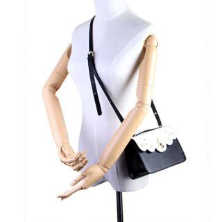 MEIDU 每度 女士单肩包 甜美花边百搭斜挎包潮流小包 MWB160676 黑色