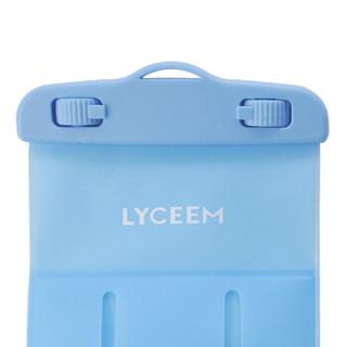 蓝橙LYCEEM 手机防水袋 精致屏M号水蓝色 防尘包苹果7/8 /6s华为潜水下温泉游泳触屏拍照视频挂绳臂带测试纸