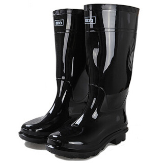 回力 雨鞋男式高筒防水防滑雨鞋胶鞋户外雨靴套鞋 HXL818 黑色高筒 42码