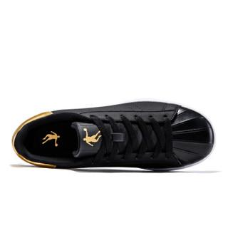 乔丹 男鞋板鞋时尚轻便休闲板鞋 XM2570507 黑色/新金色 40.5