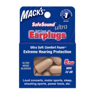 MACK'S 隔音耳塞 防噪音工作学习用 经典款 香槟金色 5副装