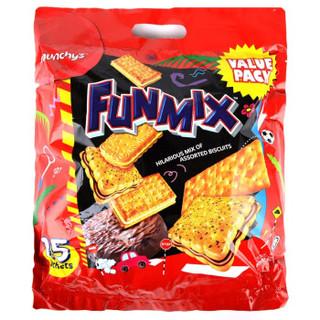 马来西亚进口 马奇新新 欢密斯什锦饼干 500g 休闲零食 独立小包装