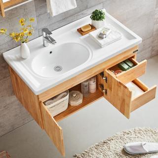 名爵(MEJUE)Z-6214100实木卫浴柜洗脸盆柜套装挂墙浴室柜组合
