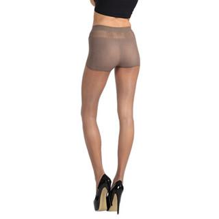 皮尔卡丹丝袜超薄1D德国冰蚕丝面膜不易勾丝性感丝袜 带安全裤功能浅咖啡色均码