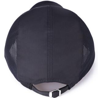GLO-STORY 棒球帽 休闲薄料运动网帽男女户外鸭舌帽MMZ724036黑色