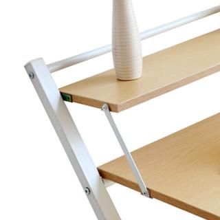 家逸  简易折叠电脑桌 钢木电脑桌 简约办公桌书桌写字台  橡木色