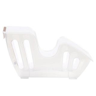 Sanada Seiko 进口餐盘收纳架锅盖置放架 白色透明