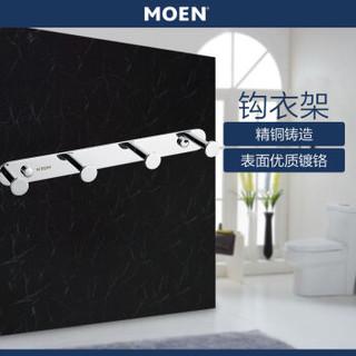 摩恩(MOEN)浴室挂件卫生间挂件铜衣钩排钩四头单排挂衣帽钩五金ACC9946