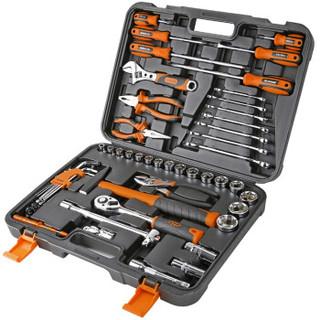 华丰巨箭 维修工具套装52件套 棘轮扳手套筒组套 汽修工组箱套装HF-81052A