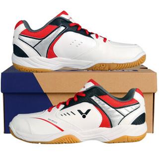 VICTOR 威克多 胜利羽毛球鞋 SH-A501-D男女款 防滑透气运动鞋 42码 白红色