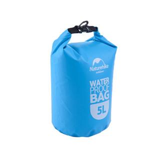 挪客Naturehike 户外运动 收纳用品手机衣物品防水游泳包漂流袋 5L 天蓝色