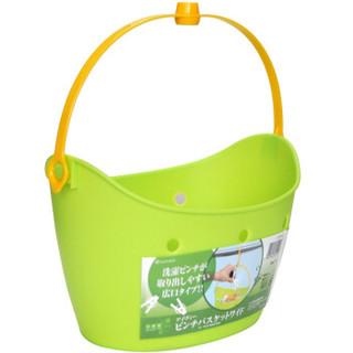 INOMATA IVY系列进口家居小挂篮提手杂物篮收纳篮收纳筐京东自营凑单 淡绿色