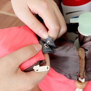 空间优品 桶式旅行大容量化妆包 多功能洗漱收纳包 玫红