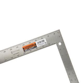 钢盾(SHEFFIELD)S079001 不锈钢直角尺 双面刻度90度角尺防锈耐磨木工尺子 200x300mm