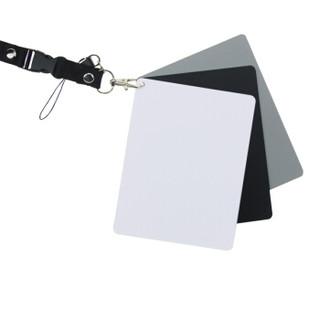 天气不错 白平衡卡/18度灰卡/黑卡三合一便携套装 通用佳能/尼康/索尼相机摄影调色校正 大号