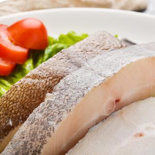 海买 格陵兰进口比目鱼切段 500g/袋 5-7块 海鲜水产