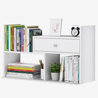 家乐铭品 书架桌面带抽 桌面架收纳架-暖白色 ZC2212