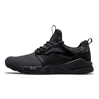 QIAODAN 乔丹 男鞋运动鞋舒适减震透气跑步鞋  XM3570307 黑色 44.5