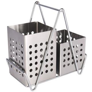 拜杰(Baijie)不锈钢筷子筒 餐具筒 筷子笼沥水架 置物架
