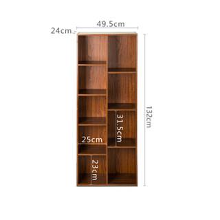 慧乐家 鲁比克创意九格柜组合三件套 书柜 储物柜 置物架 深红樱桃木色 FNAJ-11253