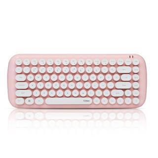 Fühlen 富勒 MK910 无线键盘 樱花粉 无光 88键