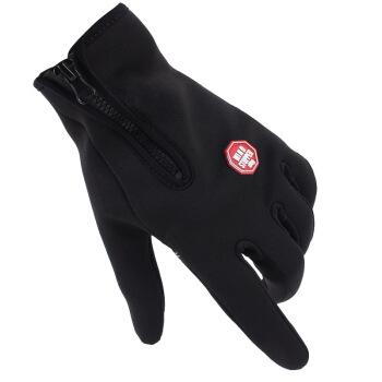 JAJALIN 加加林 手套防寒触屏手套保暖手套 运动保暖防风防滑骑行手套全指手套登山保暖手套 BS-020 XL