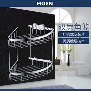 摩恩(MOEN)浴室挂件卫生间挂件304不锈钢双层角篮浴室收纳置物架90106