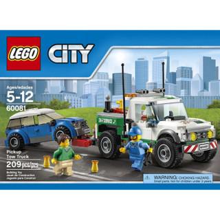 LEGO 乐高 城市 60081 早教 拼插积木 玩具 卡车拖车 (小颗粒)