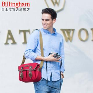 白金汉(Billingham)Hadley Small荧光系列 时尚个性 单反微单专业摄影相机包 (枣红色/巧克力皮 帆布款)