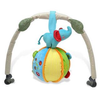 费雪Fisher-Price 毛绒玩具 小象手抓球 锻炼宝宝手抓 婴儿色彩辨别 布娃娃公仔 FPL006