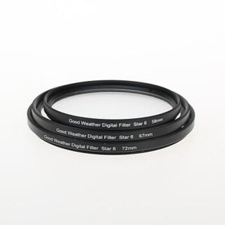 天气不错 67mm星光镜Star-6特效6线水字星芒镜夜景滤镜 适合佳能18-135尼康18-105富士索尼单反微单相机镜头