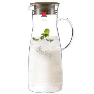 一屋窑 耐高温玻璃茶具玻璃壶 冷水壶果汁杯 可泡茶 咖啡色1000ml