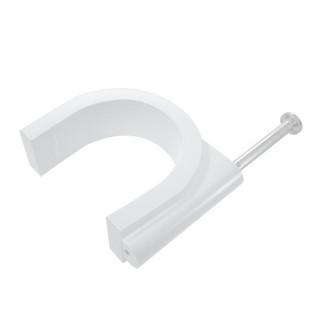 海乐(Haile)ZD-XK10-100圆形钢钉线卡电线卡网线卡管卡固线钉压线卡 卡钉10mm 100只装