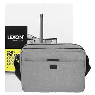 LEXON 乐上 单肩包手提包平板电脑包 休闲苹果IPAD包单肩背包双层防泼水女挎包LNR1422LG 浅灰色