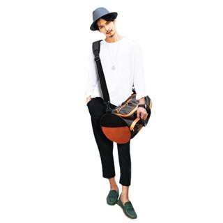 DouGuYan 豆鼓眼 大容量商务短途出差旅行包男女手提行李包健身包 G00170 橙色