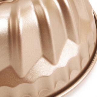 学厨 CHEF MADE 蛋糕模具 7寸不粘咕咕霍夫模纹理深刻凸柱模具烤箱用具香槟金色WK9084