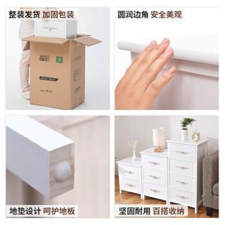 家逸 床头柜 现代简约 RF-060 白色 板木结合 40*30*80cm