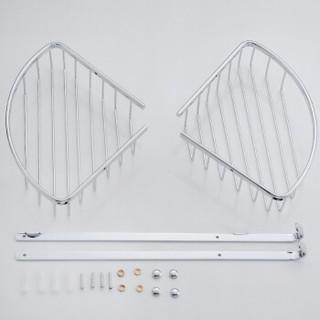 贝乐卫浴(ballee) TL005-9全铜浴室双层网篮置物架 壁挂式三角架