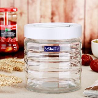 喜碧(Scybe)格雷可手提加厚玻璃密封罐储藏瓶 900ml
